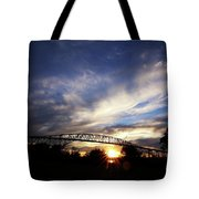 Setting Sun And Cloudy Skies Tote Bag