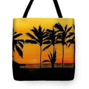 Setting Sun In The Tropics Tote Bag