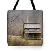 Settlers Cabin In Cades Cove Tote Bag
