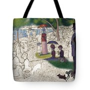 Seurat Sunday Afternoon Tote Bag