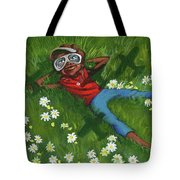Seven Angels Above Tote Bag