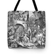 Seven Deadly Sins, 1558 Tote Bag by Granger