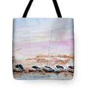 Seven Little Boats Tote Bag