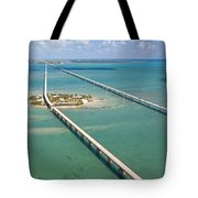 Seven Mile Bridge Crossing Pigeon Key Tote Bag
