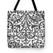 Seventeenth Century Parterre Pattern Design Tote Bag