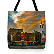 Seventh And Bleeker At Sunrise Nyc Tote Bag