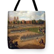 Seventh Regiment On Review. Washington Square. New York Tote Bag
