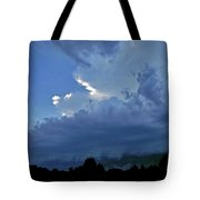 Severe Weather And Waxing Crescent Moon Tote Bag