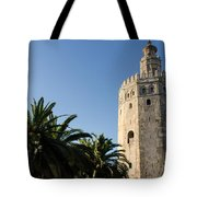 Seville - A View Of Torre Del Oro 2 Tote Bag