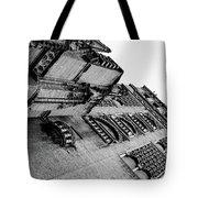Seville - Giralda In Black And White Tote Bag
