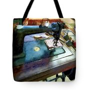 Sewing Machine With Sissors Tote Bag
