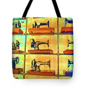 Sewing Machines Come To Life Tote Bag