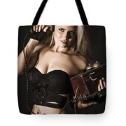 Sexy Blond Secret Agent Tote Bag