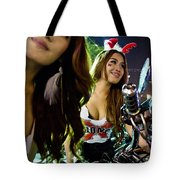 Sexy Bunny Models At A Motorycle Rally In Bangkok Thailand Tote Bag