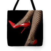 Sexy Legs In Red Shoes Tote Bag