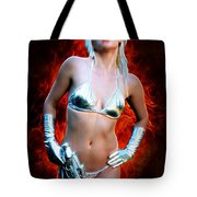 Sexy Space Vixen Tote Bag