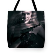 Sexy Woman Assassin Tote Bag