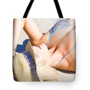 Sexy Woman On Sand Tote Bag