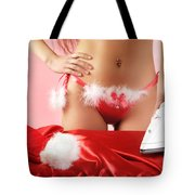Sexy Woman Preparing For Christmas Holidays Tote Bag