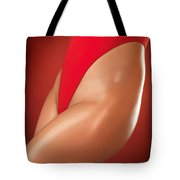 Sexy Young Woman In High Cut Swimsuit Tote Bag