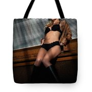 Sexy Young Woman In Lingerie Tote Bag
