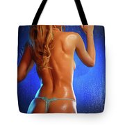 Sexy Young Woman Tote Bag