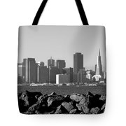 Sf Skyline  Bw Tote Bag