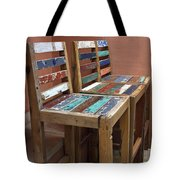 Shabby Chic Chairs Tote Bag