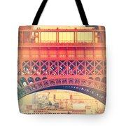 Shabby Chic Eiffel Tower Paris Tote Bag