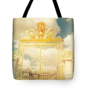 Shabby Chic Gold Gate Versailles Tote Bag