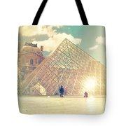 Shabby Chic Louvre Museum Paris Tote Bag