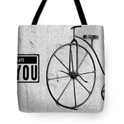 Shabby Chic, Old Bicycle No 01 Tote Bag