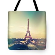 Shabby Chic Vintage Style Eiffel Tower Paris Tote Bag