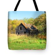 Shack In Fall Colours Tote Bag