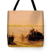 Shad Fishing At Gloucester On The Delaware River 1881 Tote Bag