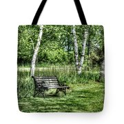 Shaded Bench Tote Bag