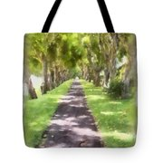 Shaded Walkway To Princeville Market Tote Bag