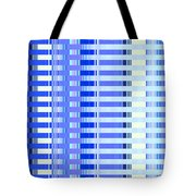 Shades Of Blue Highrise Tote Bag