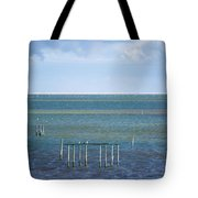 Shades Of Blue On The Horizon Tote Bag