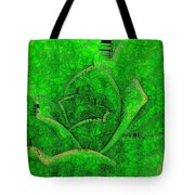 Shades Of Green Stained Glass Tote Bag