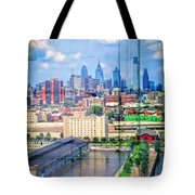 Shades Of Philadelphia Tote Bag