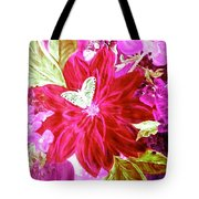 Shades Of Pink Flowers Tote Bag