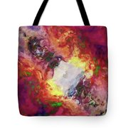 Shades Of Red Abstract Tote Bag