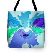 Shades Of The Butterfly Tote Bag