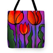 Shades Of Tulips Tote Bag