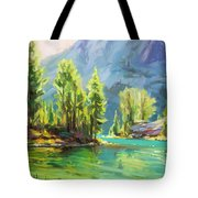 Shades Of Turquoise Tote Bag