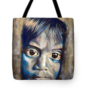 Shades Of Why, Sad Child Painting Tote Bag