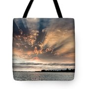 Shadow Cloud Over Humboldt Bay Tote Bag