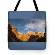 Shadow Mountain Zion National Park Utah Tote Bag