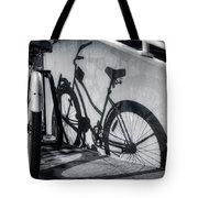 Shadow Of A Bike At Carolina Beach Tote Bag